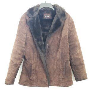 🤎  Guess Suede/faux fur Coat - Size Medium 🤎